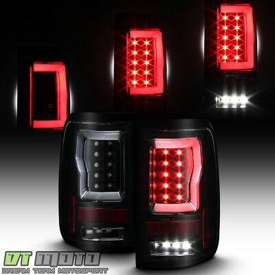 Black Smoke 2004-2008 Ford F150 LOBO Full LED Light Tube Tail Lights Brake Lamps