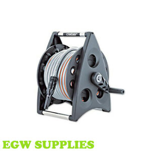 Garden Hose Reel Kit 30m Wall Mounted Or Free Standing Fittings Inc Claber Kiros