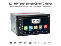 6.2 Inch HD Double Din Car Audio Stereo Bluetooth CD DVD Player USB SD Aux Car Radio Headunit