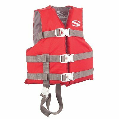 Stearns Child-Sized Life Vest-Red-US Coast Guard Approved-Water (Red Kids Life Vest)