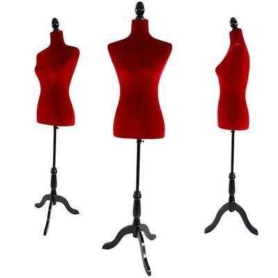 Red Female Mannequin Dress Form Display W Black Tripod Stand Designer Pattern