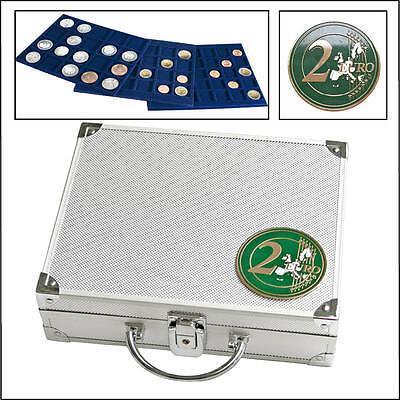 Safe 174 Alu-Münzkoffer für 2 € Euro Stücke ungekapselt