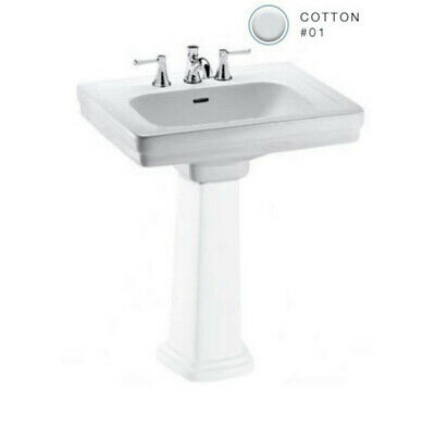TOTO LT532.8#01 Promenade 24 in. Sink w/ 3 Holes & Overflow-Less Pedestal New