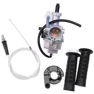 Carburetor For Honda XR100 XR100R CRF100F Handlebar Hand Grips Throttle  Cable