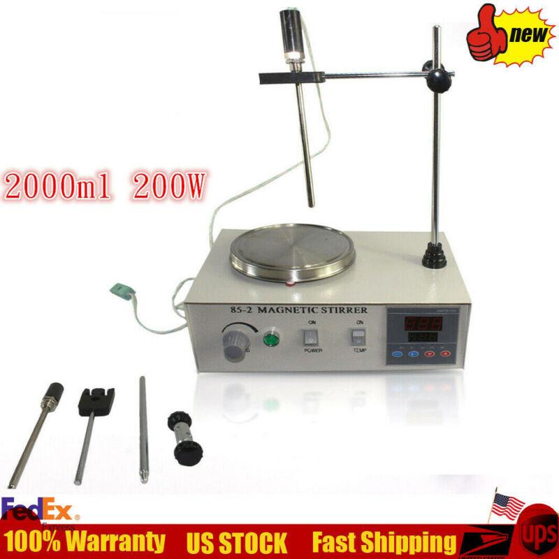 Digital Lab 2L Constant Temperature Magnetic Mixer Stirrer Motor Heating Plate