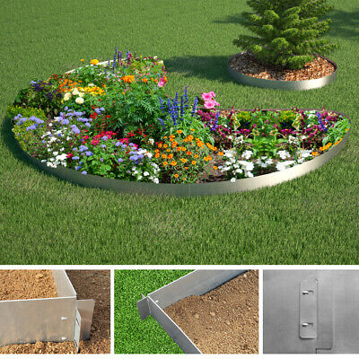 Lawn edging patch border padding border lawn edge palisade 100x14 cm in 15 m