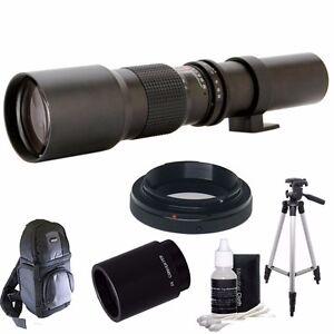 500mm/1000mm F8 Preset Telephoto Lens For Nikon Digital Cameras +Backpack & More