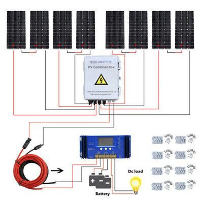 - ECO 200W 400W 600W 800W Solar Kit:100W Solar Panel+Solar Combiner Box+Controller