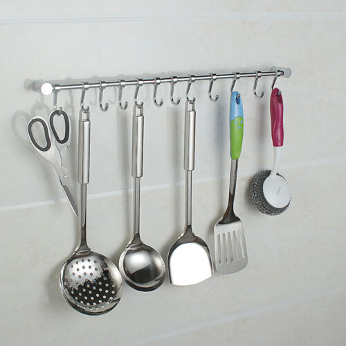 12 Hooks Kitchen Utensil Amp Gadget Set Wall Hanging Rail