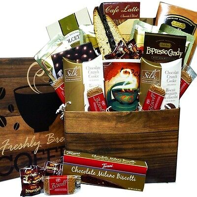 Art of Appreciation Gift Baskets - Coffee Lovers Care Package - Snacks & Treats!