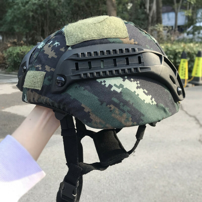1 X UHMW-PE Bullet Proof MICH2000B Level IIIA Safety Ballistic Helmet Camouflage