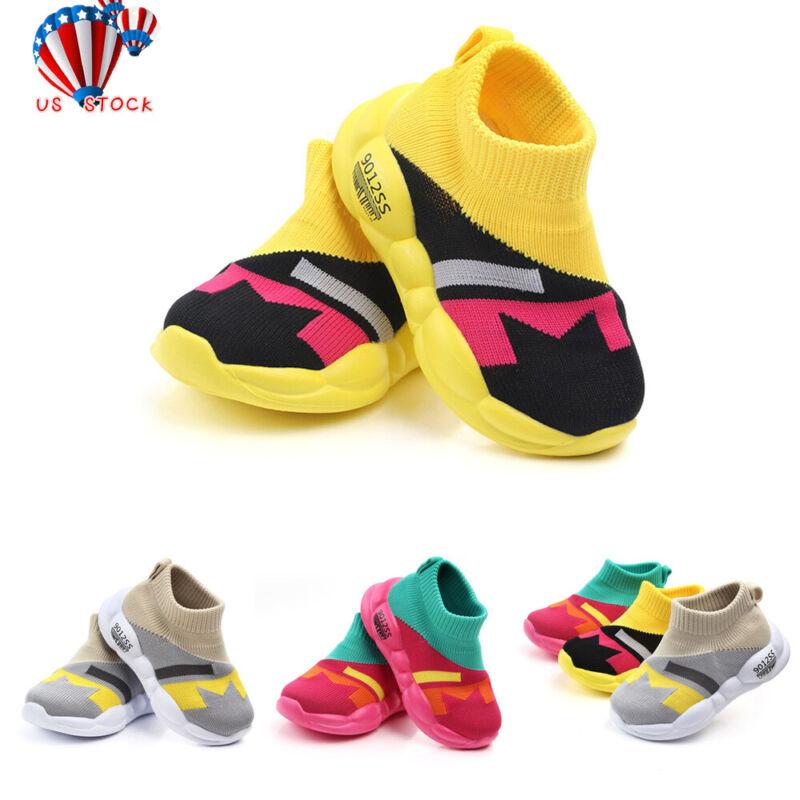 Toddler Infant Kids Sneakers Baby Girls Boys Mesh Sole Sport
