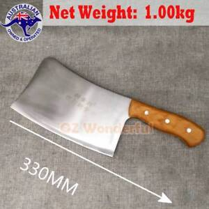 1.00kg Bone Cleaver Kitchen Knife Knives Wooden Handle Blade HEAV Epping Whittlesea Area Preview