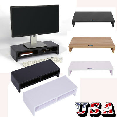 (Computer Monitor Riser Desk Table LED TV Stand Shelf Desktop Laptop with Drawer)