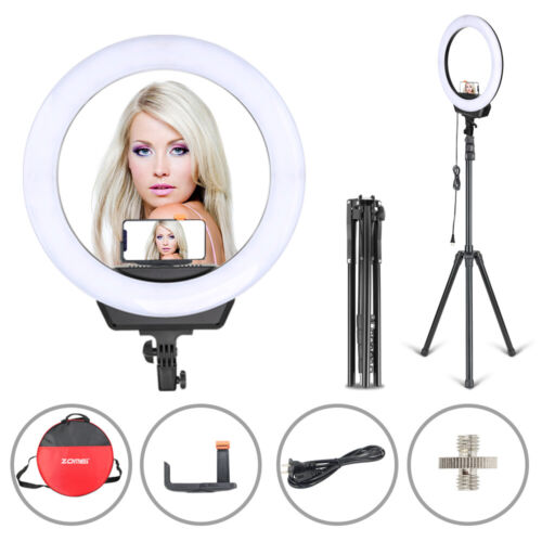 """Zomei 16"""" camera LED Ring Light Dimmable Lighting for Photog"""