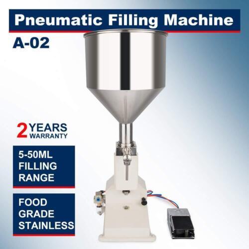 NEW!5-50ml Liquid Pneumatic Filling Machine Cream Paste Shampoo Cosmetic Filler