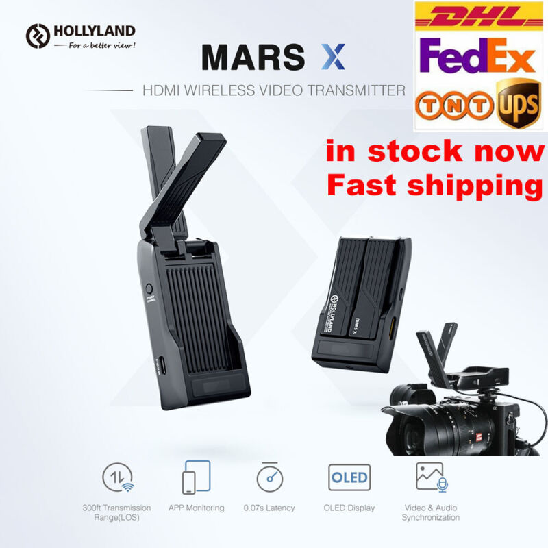 HOLLYLAND MARS X 300FT Image Wireless HDMI Video Transmission OLED For DSLR