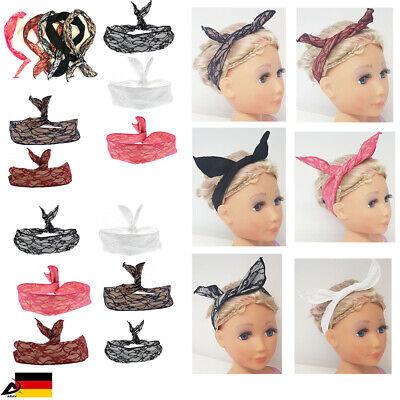 Draht Haarband Rockabilly Stirnband Kopfschmuck Haarband Bunny Lace Hasenohren ()