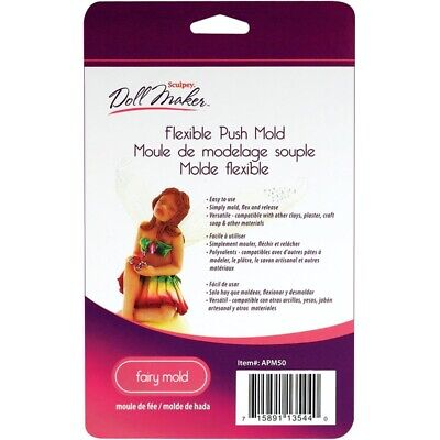 Sculpey Flexible Polymer Clay Mold - Sculpey FAIRY Doll maker Flexible Push Mold for Polymer, Air Dry & Paper clay