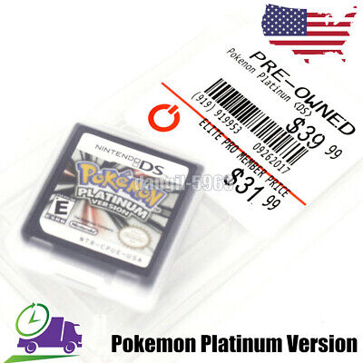 Hot Pokemon Platinum Game Card for DS 2/3DS NDSI NDS NDSL Lite all version US