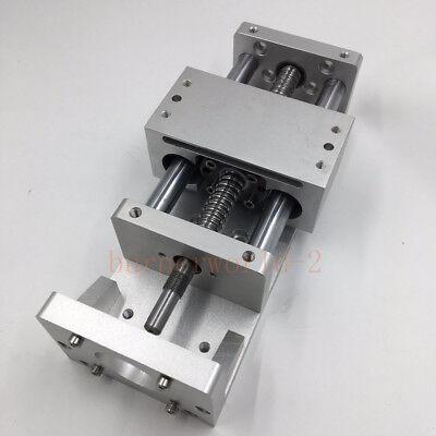 Electric Cnc Sliding Table Cross Slide Linear Stage X Y Z Axis Sfu1605 Ballscrew