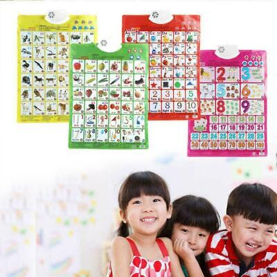 Kids Baby Learning Sound Wall Chart Read Card Book Early Edu