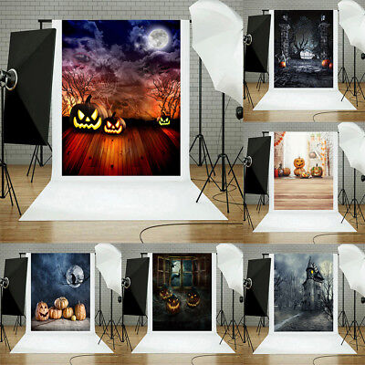 Halloween Backdrops Pumpkin Vinyl 3x5FT Lantern Background Photography - Halloween Studio Backdrops