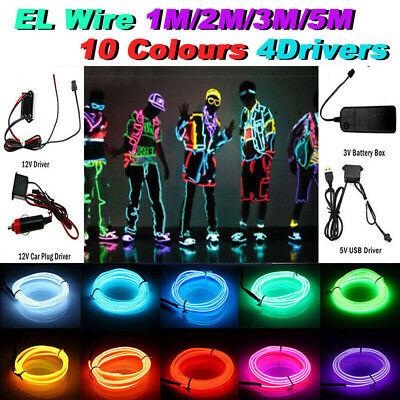 Led El Wire (KSIPZE Neon LED Light Glow EL Wire String Strip Rope Tube Decor Car)