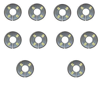 60 Pc Clothing Rack Sizing Xs S M L Xl Xxl Dividers Ring Hanger Black Retail Tag