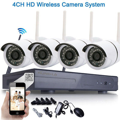 WIFI 720P Wireless NVR APP Outdoor Night Vision Security IP Camera CCTV System