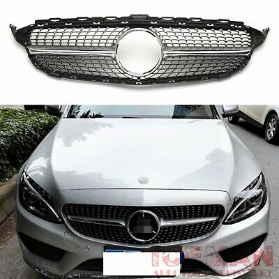Diamantgrill Chrom Mercedes Benz Frontgrill C-Klasse W205 S205 A205 C205 2014