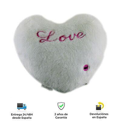 Cojín suave infantil corazón con LED integrado - LED diferentes tonalidades