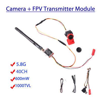 1000TVL Mini Camera+TS5828S FPV 5.8G 40CH Wireless Video Transmitter Fr RC/Drone