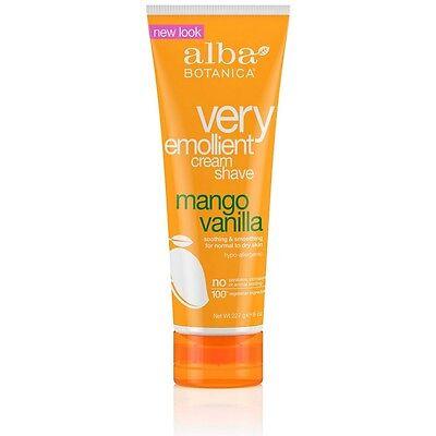 - Alba Botanica Natural Very Emollient Cream Shave, Mango Vanilla 8 oz