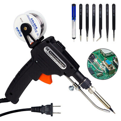 110v 60w Auto Welding Electric Soldering Iron Kits Temperature Gun Diy Tool Set