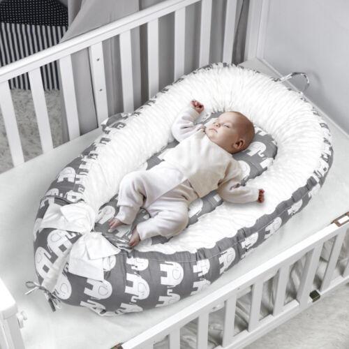 Baby Sleep Nest Bed Removable Newborn Infant Cushion Crib Cr