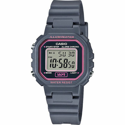 Casio LA20WH-8A, Illuminator, Digital Gray Resin Watch, Chronograph, Alarm