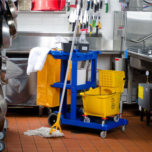 Janitorial Cleaning Cart / Janitor Cart Complete Kit