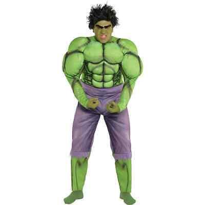 Avengers End Game Incredible Hulk Muscle Erwachsene Kostüm Marvel Übergröße Neu (Incredible Hulk Avengers Kostüm)