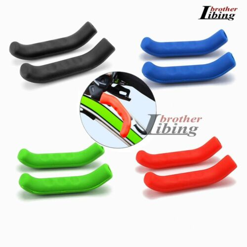 1 Pair Silicone Rubber Bicycle Handlebar Grips /& Brake Protector Sleeves Covers