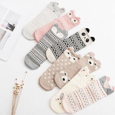 Women Ladies Cute Lovely Socks Cartoon Animal Socks Cotton Warm Soft Ankle Socks Cotton Soft Ladies Socks