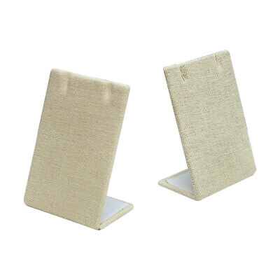 5 PC 2-1/2 x 3-5/8 Earring Pendant Display Stand Soft Linen Beige Jewelry Holder