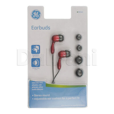 EARBUDS REDfor Nokia, Samsung, LG, Motorola, Sony Ericsson, BlackBerry, HTC for sale  Shipping to India