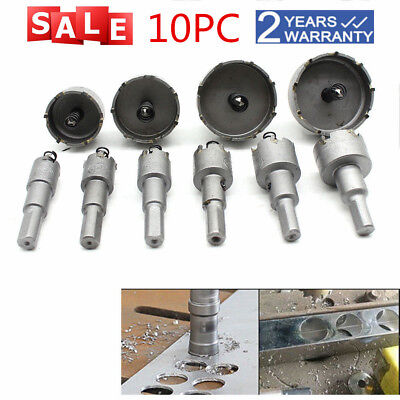10pcs Carbide Tip Tct Hole Saw Cutter Drill Bit Set Tool For Steel Alloy 16-53mm