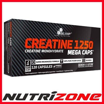 Olimp Creatine Monohydrate 1250mg per caps Muscle Gain Strength Booster 120caps