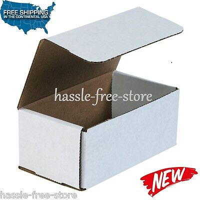 50 7x4x3 White Shipping Boxes Mailers Small Packing Mailing Strong Cardboard