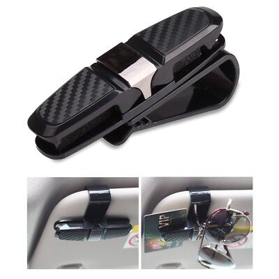 Car Sunglasses Holder Mount with Ticket Card Clip for Interior Auto Sun (Sunglass Holder For Car Visor)