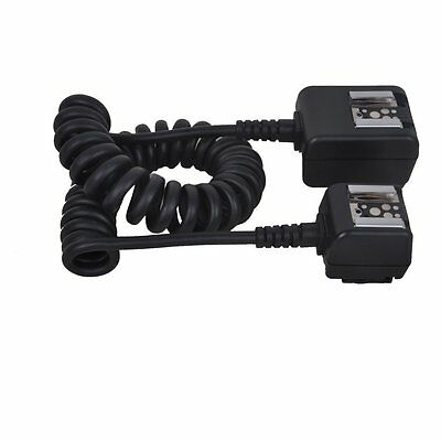 Dual Hot Shoe TTL Flash Sync Cord Cable for Pentax Canon Nikon & DSLR Cameras