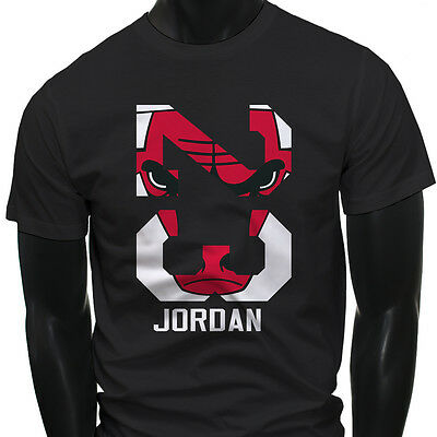 Chicago bulls Michael Air Legend 23 Jordan Mens Black T-Shirt