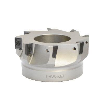 90 Degree Indexable Face Mill Cutter 4x1-12 8 Flute Apmt Apkt Cnc Insert